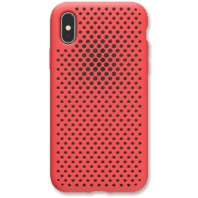 iPhone XS 5.8インチ専用 AndMesh メッシュiPhone XSケース(ブライトレッド) 612-958707