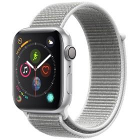 Apple Watch Series 4(GPSモデル)- 44mm シルバーアルミニウムケースとシーシェルスポーツループ MU6C2J/A