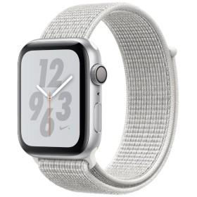 Apple Watch Nike+ Series 4(GPSモデル)- 44mm シルバーアルミニウムケースとサミットホワイトNikeスポーツループ MU7H2J/A