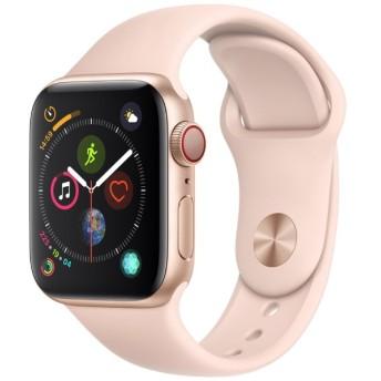 Apple Watch Series 4(GPS + Cellularモデル)- 40mm ゴールドアルミニウムケースとピンクサンドスポーツバンド MTVG2J/A