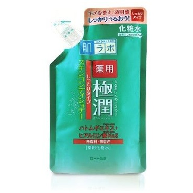 ロート製薬 肌ラボ 薬用 極潤 スキンコンディショナー しっとりタイプ つめかえ用 170mL (医薬部外品)