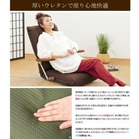 ポンプ肘式座椅子 UGUISU(うぐいす) ブラウン YS-1075D_BR