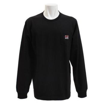 BEN DAVIS 無地ベーシックピスネームポケットロングTシャツ 8780000-BLK (Men's)