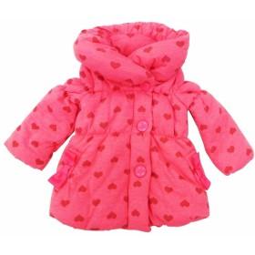 ベビーザらス限定 キッザらス 中綿入り ショールカラー コート(ピンク×95cm)【クリアランス】