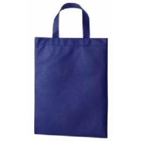 (まとめ) TANOSEE 不織布バッグ A4 マチ無 ヨコ270×タテ350mm ネイビー 1パック(10枚) 【×5セット】