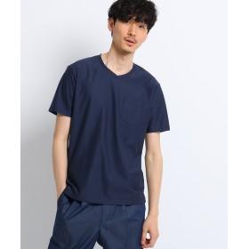 TAKEO KIKUCHI(タケオキクチ) ミニヘリンボンTシャツ [ 吸汗速乾 メンズ Tシャツ ]