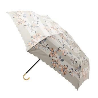 grove(グローブ) ボーダーフラワー折り畳み傘(晴雨兼用)