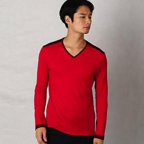 【SALE(三越)】<COMME CA MEN > ウォッシャブルウールTシャツ(0740TI02) アカ 【三越・伊勢丹/公式】