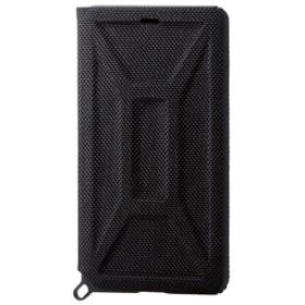 エレコムiPhone XR用ZEROSHOCK/フラップブラックPM-A18CZEROFBK