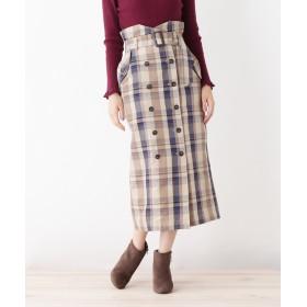 grove(グローブ) チェックトレンチタイトスカート