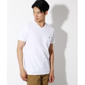 THE SHOP TK(Men)(ザ ショップ ティーケー(メンズ)) 【吸水速乾】【セオアルファ糸採用】VネックTシャツ