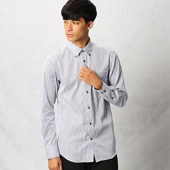 <COMME CA MEN > 形態安定ロンドンストライプシャツ(0708HI07) アオ 【三越・伊勢丹/公式】