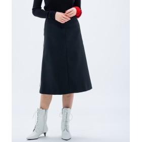 【オンワード】 CK CALVIN KLEIN WOMEN(CK カルバン・クライン ウィメン) 【2018AW COLLECTION】ユニフォームポリ スクエア スカート ブラック 38 レディース 【送料無料】