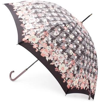 ITS' DEMO(イッツデモ) 晴雨兼用ツイード風フラワー長傘