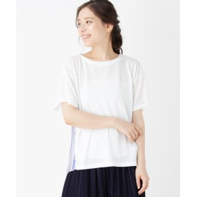 SHOO・LA・RUE/Cutie Blonde(シューラルー) バックプリーツ異素材ミックスTシャツ