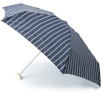 ITS' DEMO(イッツデモ) 晴雨兼用 デシン・ストライプ ミニ傘