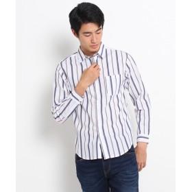 THE SHOP TK(Men)(ザ ショップ ティーケー(メンズ)) トリコストライプカジュアルシャツ