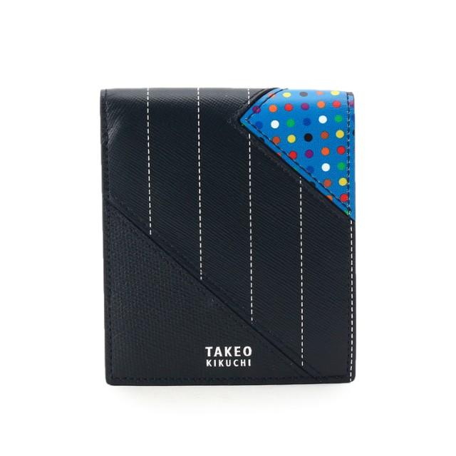 8e31d28e43d5 TAKEO KIKUCHI(タケオキクチ) マルチドットパッチワーク2つ折財布 [ メンズ 財布 ]