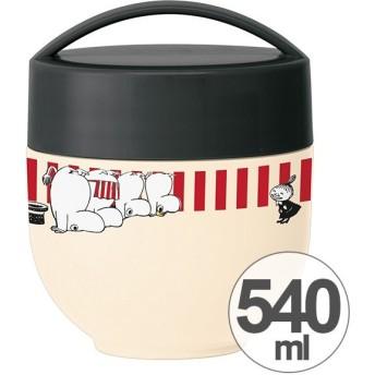 保温弁当箱 ランチボックス どんぶり型 コンパクトタイプ ムーミン ストライプ 540ml ( 丼 麺 お弁当箱 保温 保冷 )
