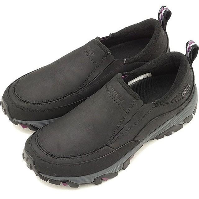 メレル MERRELL レディース コールドパック アイスプラス モック ウォータープルーフ W COLDPACK ICE+ MOC WATERPROOF ウィンターシューズ 靴BLACK  15752 FW18