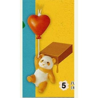 空飛ぶパンダストラップ Sweet(すうぃーと) 5:ハート風船(キャラメル) エポック社 ガチャポン
