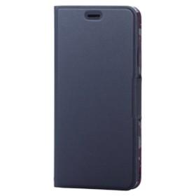 エレコムiPhone XS Max用ソフトレザーカバー/薄型/女子向/磁石付ネイビーPM-A18DPLFUJNV