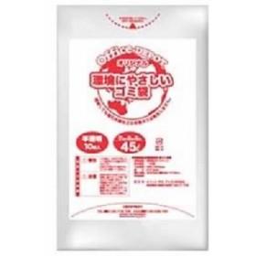 (業務用セット) オリジナルゴミ袋 半透明 45L 1パック(10枚) 【×50セット】