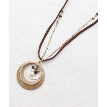 3can4on(Ladies)(サンカンシオン(レディース)) 月の輪フープ2連ネックレス
