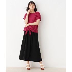 pink adobe(ピンクアドベ) 【セットアイテム】サイドリボンTシャツ+ロングスカート