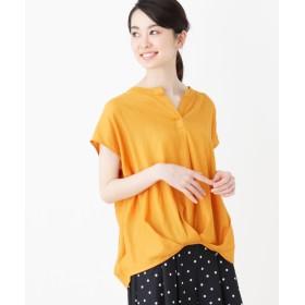 HusHusH(Ladies)(ハッシュアッシュ(レディース)) 【洗える】スキッパー裾タックシャツ
