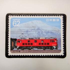 日本 鉄道切手ブローチ 3945