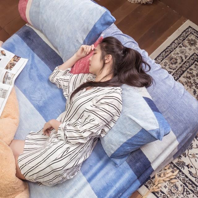 Old dreams 法蘭絨床包兩用毯組 溫暖舒適 台灣製【棉床本舖】