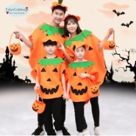 2点以上送料無料 かぼちゃ キッズ コスプレ衣装 コスチューム 子供用かぼちゃ 帽子付き かぼちゃ 代引不可 cos cos-k wsc-180719-225