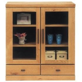 サイドボード 北欧 カフェ 完成品 幅80cm リビング収納家具 オーク 木製 国産