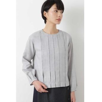 HUMAN WOMAN / ヒューマンウーマン ≪Japan couture≫ ポリエステルウールビエラタックブラウス