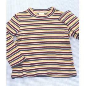 コンビミニ Combi mini 長袖シャツ ロンt 100cm 紺/緑/白/黄色系 ボーダー トップス 男の子 キッズ 子供服 通販 買い取り