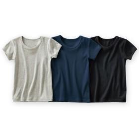 ベーシック半袖シャツ3枚組(男の子 子供服。ジュニア服) キッズ下着