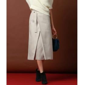 Viaggio Blu(大きいサイズ) / ビアッジョブルー(おおきいサイズ) ≪大きいサイズ≫ハイウエストラップAラインスカート
