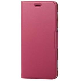 エレコムiPhone XS Max用ソフトレザーカバー/薄型/女子向/磁石付ディープピンクPM-A18DPLFUJPND