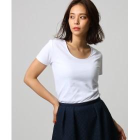 UNTITLED(アンタイトル) 【洗える】ペルヴィアンピマ UネックTシャツ