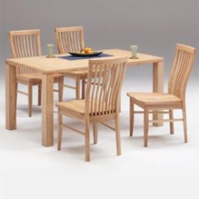 ダイニングテーブルセット 4人掛け ダイニングセット 5点セット 4人用 タモ無垢 木製 北欧 モダン