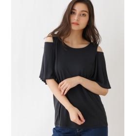 OZOC(オゾック) ◆【洗える】オープンショルダーTシャツ