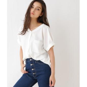 OZOC(オゾック) 【洗える】前後Vネックシャツ