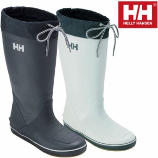 メンズ 長靴 レインブーツ ヘリーハンセン HELLY HANSEN HF91670 レインブーツ ヘリーデッキブーツ ブルー ホワイト