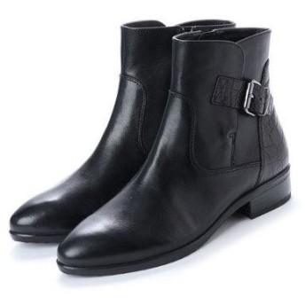 ベルフローリー BELL FLORRIE バックルベルト付ショートブーツ (ブラック)