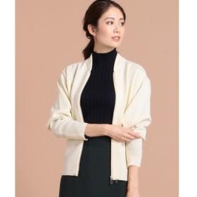 ICB Compact Wool Ester ニットブルゾン レディース