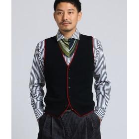 TAKEO KIKUCHI(タケオキクチ) 【 PNJ 】パイピングニットベスト [ メンズ ベスト ]