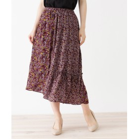 grove(グローブ) 花柄パターンMIXギャザースカート