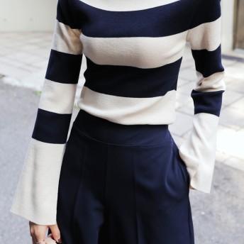 2TYPEボートネックニットTシャツ・全4色・b50037