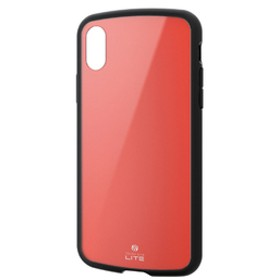 エレコムiPhone XS用TOUGH SLIM LITEレッドPM-A18BTSLRD